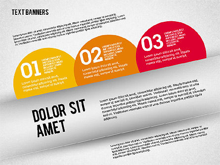 Text Banners, Slide 3, 02242, Text Boxes — PoweredTemplate.com