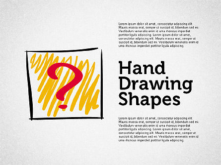 Stickman and Questions Hand Drawn Shapes, 02243, Shapes — PoweredTemplate.com