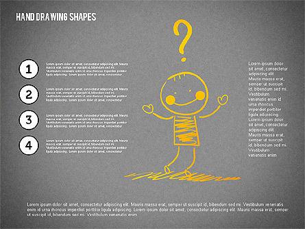Stickman and Questions Hand Drawn Shapes, Slide 14, 02243, Shapes — PoweredTemplate.com