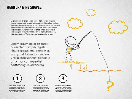 Stickman and Questions Hand Drawn Shapes, Slide 4, 02243, Shapes — PoweredTemplate.com