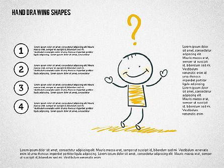 Stickman and Questions Hand Drawn Shapes, Slide 6, 02243, Shapes — PoweredTemplate.com