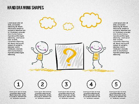 Stickman and Questions Hand Drawn Shapes, Slide 8, 02243, Shapes — PoweredTemplate.com