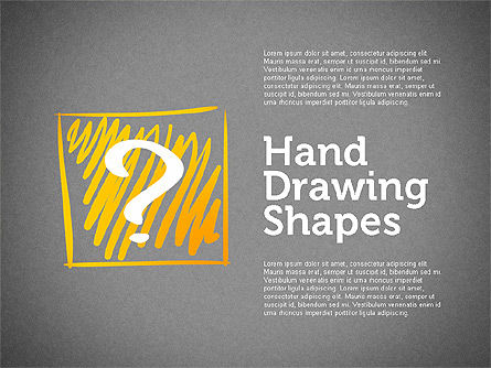 Stickman and Questions Hand Drawn Shapes, Slide 9, 02243, Shapes — PoweredTemplate.com