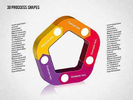 3D Process Shapes Collection, 02244, Process Diagrams — PoweredTemplate.com