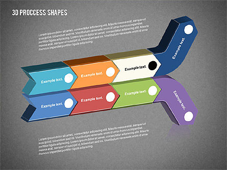 3D Process Shapes Collection, Slide 11, 02244, Process Diagrams — PoweredTemplate.com