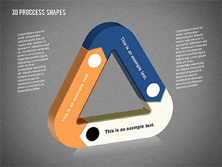 3D Process Shapes Collection, Slide 13, 02244, Process Diagrams — PoweredTemplate.com