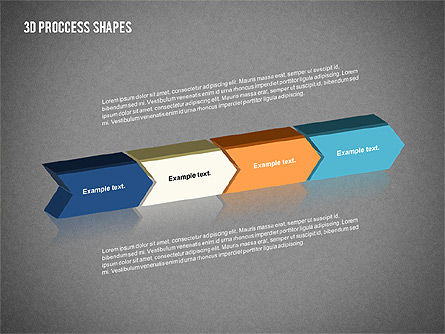3D Process Shapes Collection, Slide 15, 02244, Process Diagrams — PoweredTemplate.com