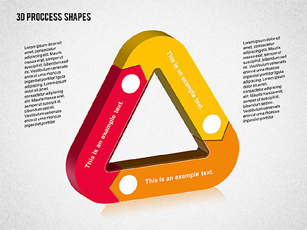 3D Process Shapes Collection, Slide 5, 02244, Process Diagrams — PoweredTemplate.com