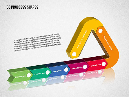 3D Process Shapes Collection, Slide 6, 02244, Process Diagrams — PoweredTemplate.com