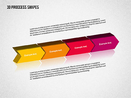 3D Process Shapes Collection, Slide 7, 02244, Process Diagrams — PoweredTemplate.com