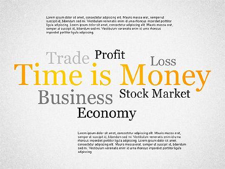 Zeit ist Geld Präsentation Vorlage für PowerPoint Präsentationen ...
