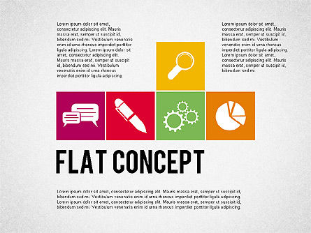 Flat Design Presentation Concept, 02246, Presentation Templates — PoweredTemplate.com