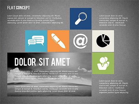 Flat Design Presentation Concept, Slide 10, 02246, Presentation Templates — PoweredTemplate.com