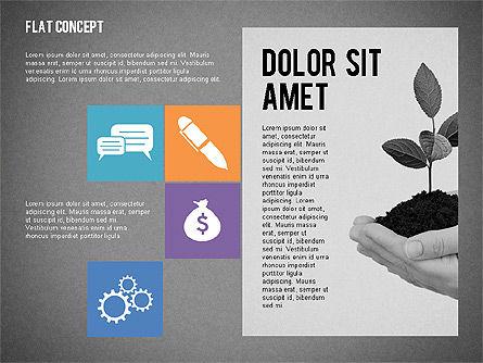 Flat Design Presentation Concept, Slide 11, 02246, Presentation Templates — PoweredTemplate.com