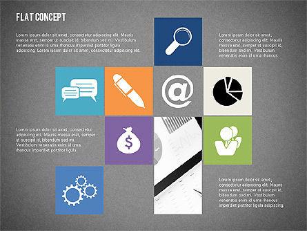 Flat Design Presentation Concept, Slide 14, 02246, Presentation Templates — PoweredTemplate.com