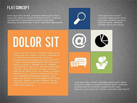 Flat Design Presentation Concept, Slide 15, 02246, Presentation Templates — PoweredTemplate.com