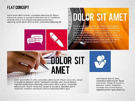 Flat Design Presentation Concept, Slide 5, 02246, Presentation Templates — PoweredTemplate.com