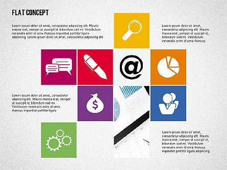 Flat Design Presentation Concept, Slide 6, 02246, Presentation Templates — PoweredTemplate.com