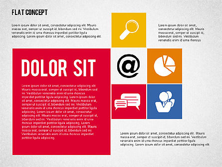 Flat Design Presentation Concept, Slide 7, 02246, Presentation Templates — PoweredTemplate.com