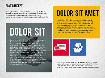 Flat Design Presentation Concept, Slide 8, 02246, Presentation Templates — PoweredTemplate.com