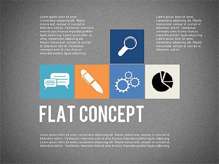 Flat Design Presentation Concept, Slide 9, 02246, Presentation Templates — PoweredTemplate.com