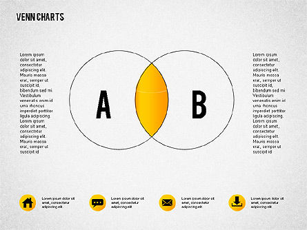 Venn Charts, 02248, Business Models — PoweredTemplate.com