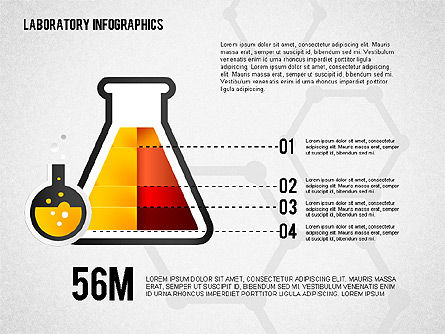 Analytical Laboratory Infographics, 02249, Infographics — PoweredTemplate.com