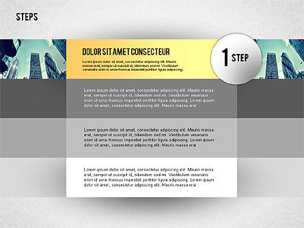 Steps with Photo Toolbox, 02251, Stage Diagrams — PoweredTemplate.com