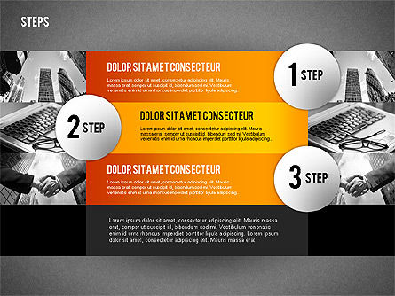 Steps with Photo Toolbox, Slide 11, 02251, Stage Diagrams — PoweredTemplate.com
