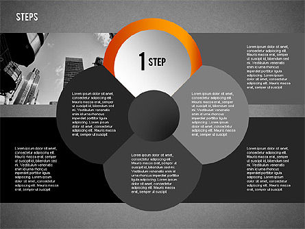 Steps with Photo Toolbox, Slide 13, 02251, Stage Diagrams — PoweredTemplate.com
