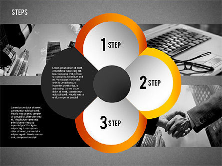 Steps with Photo Toolbox, Slide 15, 02251, Stage Diagrams — PoweredTemplate.com