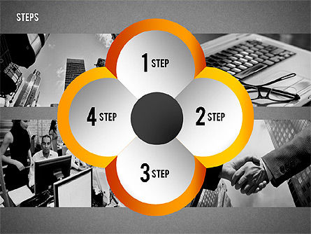 Steps with Photo Toolbox, Slide 16, 02251, Stage Diagrams — PoweredTemplate.com