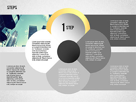 Steps with Photo Toolbox, Slide 5, 02251, Stage Diagrams — PoweredTemplate.com