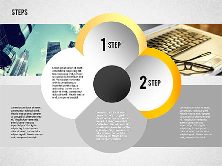 Steps with Photo Toolbox, Slide 6, 02251, Stage Diagrams — PoweredTemplate.com