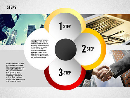 Steps with Photo Toolbox, Slide 7, 02251, Stage Diagrams — PoweredTemplate.com