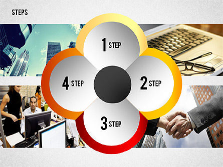 Steps with Photo Toolbox, Slide 8, 02251, Stage Diagrams — PoweredTemplate.com
