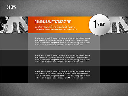 Steps with Photo Toolbox, Slide 9, 02251, Stage Diagrams — PoweredTemplate.com