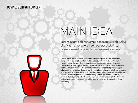 Presentation Templates: Concetto di crescita del business #02252