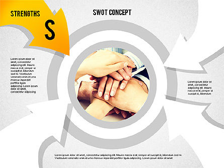 SWOT Concept, 02253, Business Models — PoweredTemplate.com