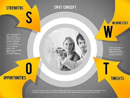 SWOT Concept, Slide 12, 02253, Business Models — PoweredTemplate.com