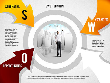 SWOT Concept, Slide 3, 02253, Business Models — PoweredTemplate.com