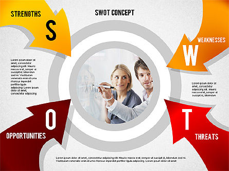SWOT Concept, Slide 4, 02253, Business Models — PoweredTemplate.com