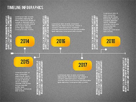 Timeline Diagram Collection, Slide 13, 02255, Timelines & Calendars — PoweredTemplate.com