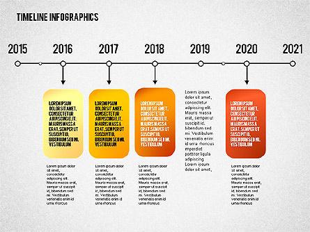 Timeline Diagram Collection, Slide 8, 02255, Timelines & Calendars — PoweredTemplate.com