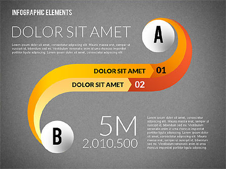 Round and Curved Infographic Elements, Slide 11, 02256, Infographics — PoweredTemplate.com
