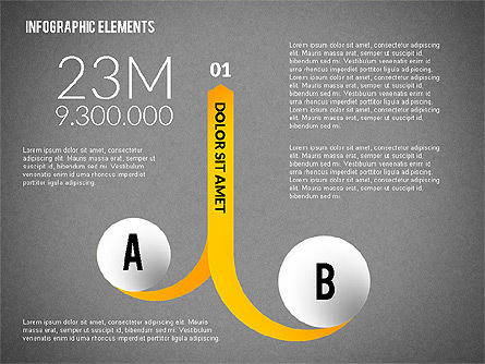 Round and Curved Infographic Elements, Slide 13, 02256, Infographics — PoweredTemplate.com