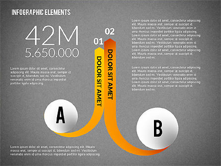 Round and Curved Infographic Elements, Slide 14, 02256, Infographics — PoweredTemplate.com
