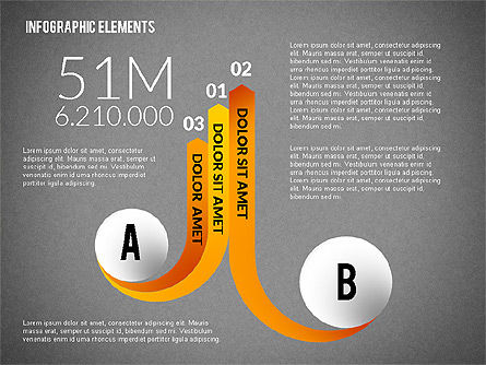 Round and Curved Infographic Elements, Slide 15, 02256, Infographics — PoweredTemplate.com