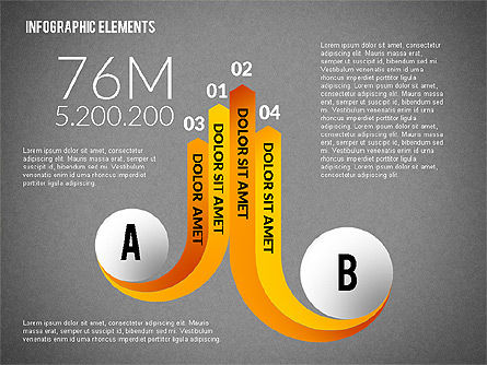 Round and Curved Infographic Elements, Slide 16, 02256, Infographics — PoweredTemplate.com