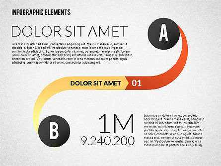 Round and Curved Infographic Elements, Slide 2, 02256, Infographics — PoweredTemplate.com
